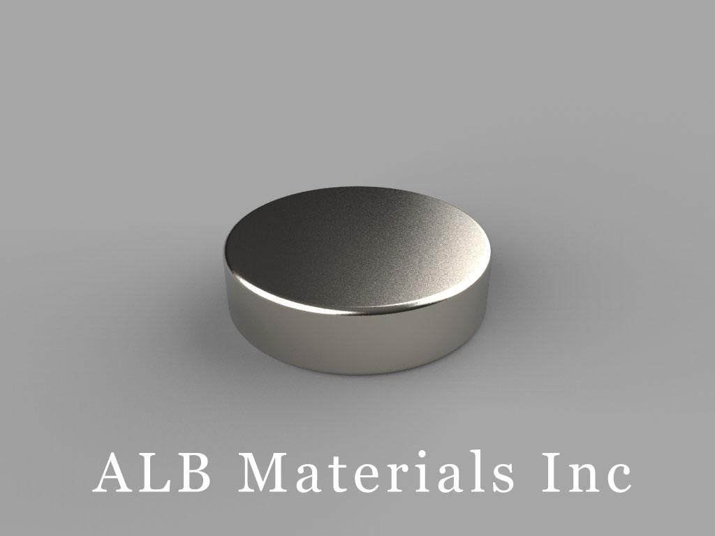 DCH2 Neodymium Magnets, 3/4 inch dia. x 2/10 inch thick
