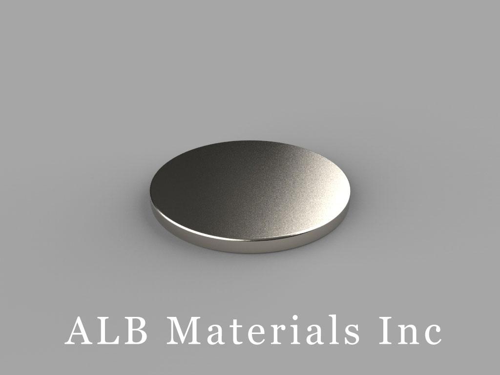 DD1 Neodymium Magnets, 13/16 inch dia. x 1/16 inch thick