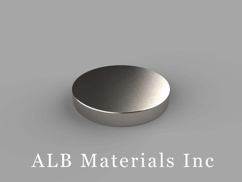 DD2 Neodymium Magnets, 13/16 inch dia. x 1/8 inch thick