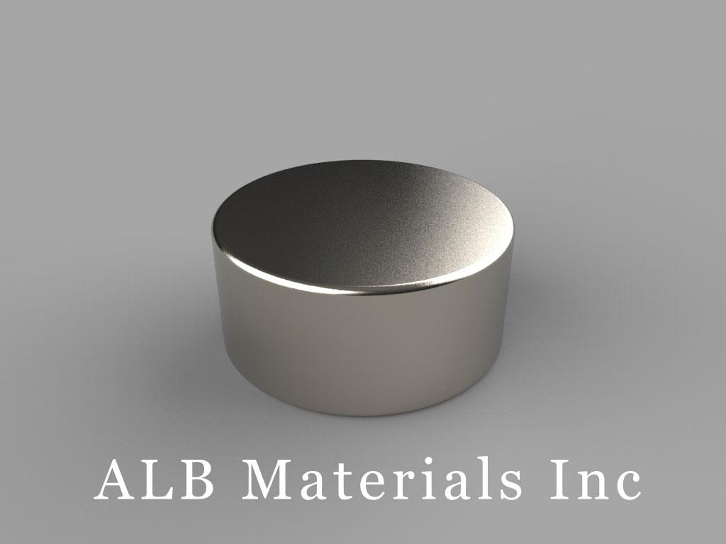 "DD6 Neodymium Magnets, 13/16"" dia. x 3/8"" thick"