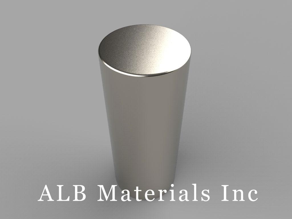 DDY0 Neodymium Magnets, 13/16 inch dia. x 2 inch thick