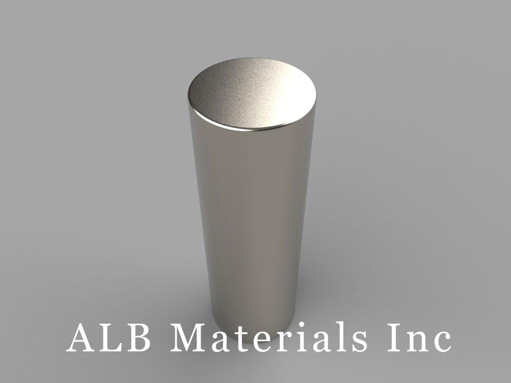 DDY8 Neodymium Magnets, 13/16 inch dia. x 2 1/2 inch thick