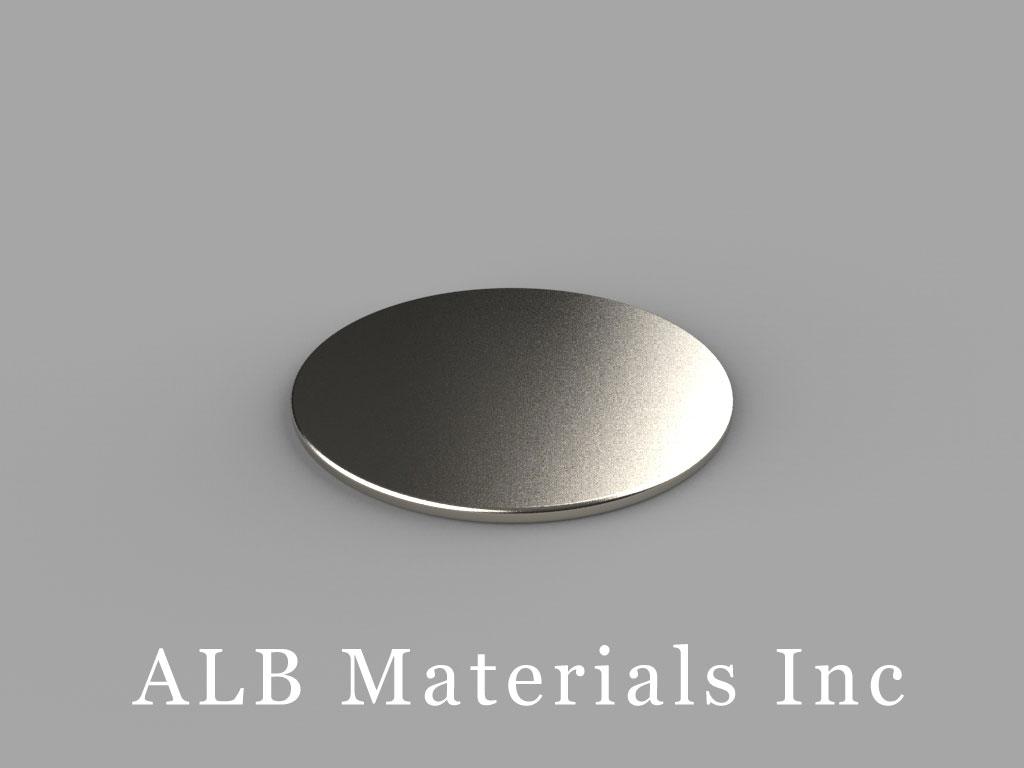 DE01 Neodymium Magnets, 7/8 inch dia. x 1/32 inch thick