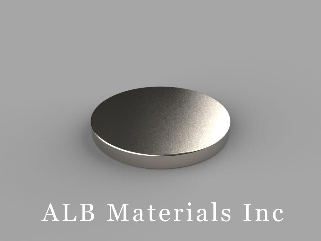 DE03 Neodymium Magnets, 7/8 inch dia. x 3/32 inch thick