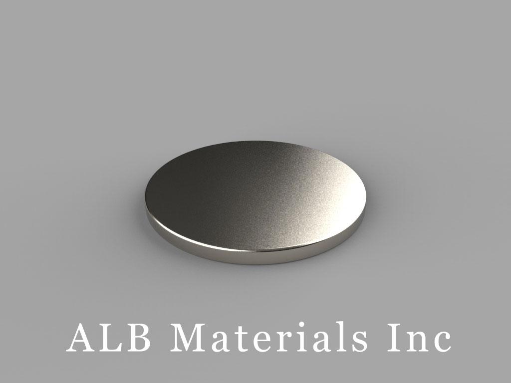 DE1 Neodymium Magnets, 7/8 inch dia. x 1/16 inch thick