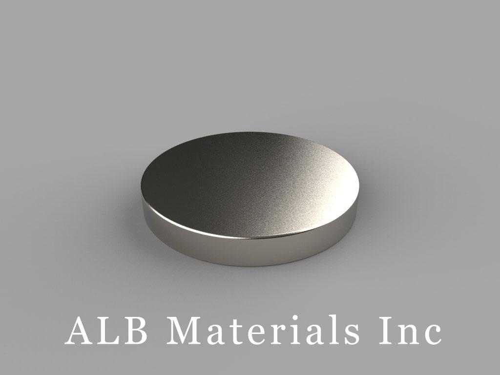 DE2 Neodymium Magnets, 7/8 inch dia. x 1/8 inch thick