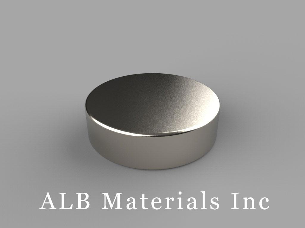 DE4 Neodymium Magnets, 7/8 inch dia. x 1/4 inch thick