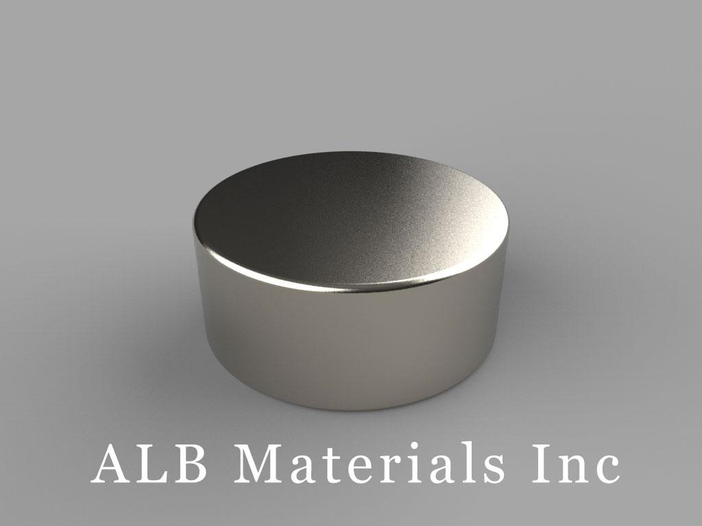 DE6 Neodymium Magnets, 7/8 inch dia. x 3/8 inch thick