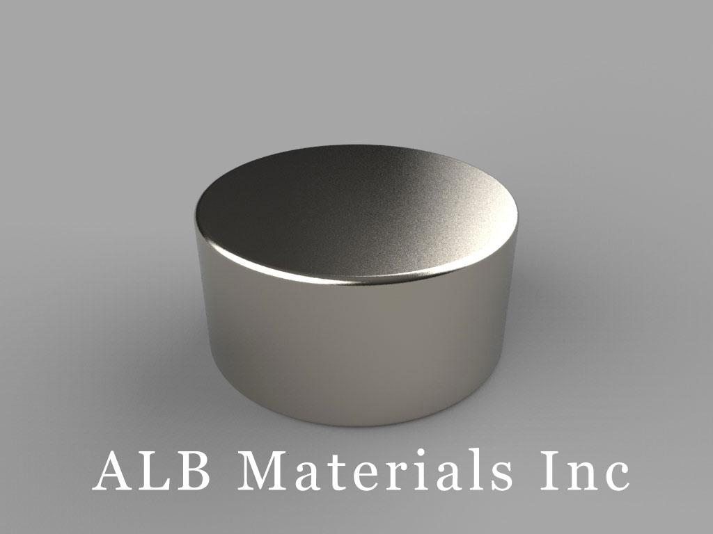 DE7 Neodymium Magnets, 7/8 inch dia. x 7/16 inch thick