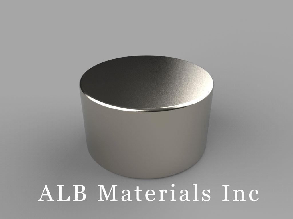 DE8 Neodymium Magnets, 7/8 inch dia. x 1/2 inch thick