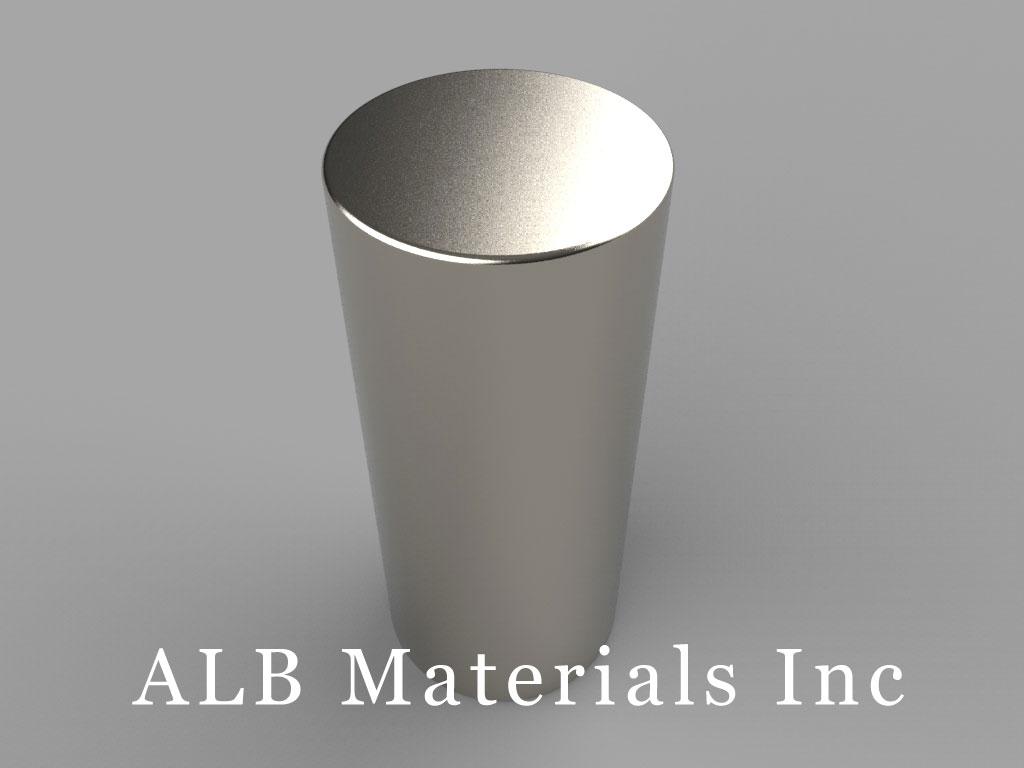 DEY0 Neodymium Magnets, 7/8 inch dia. x 2 inch thick