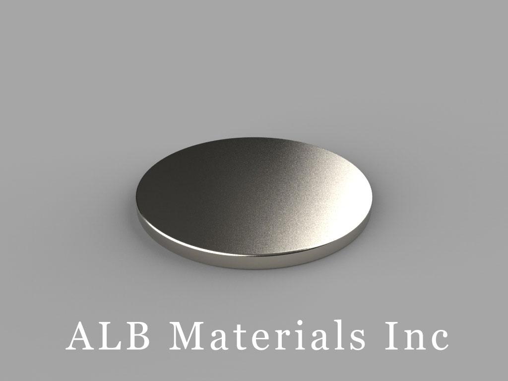 DF1 Neodymium Magnets, 15/16 inch dia. x 1/16 inch thick