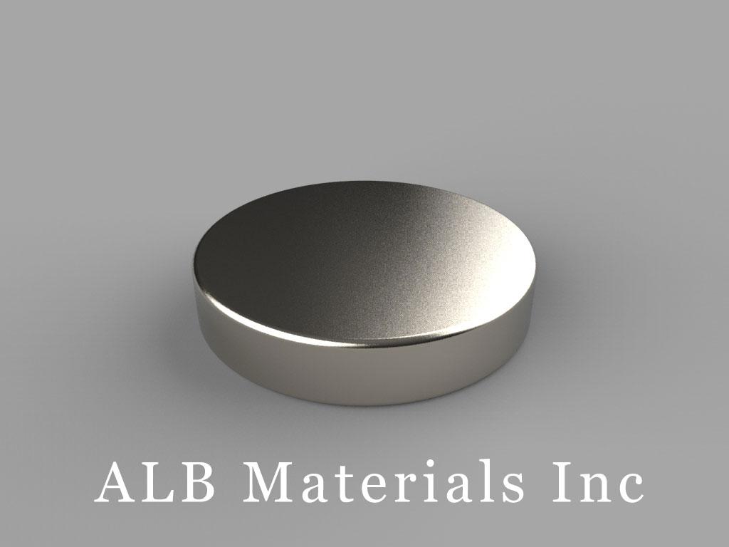 DF3 Neodymium Magnets, 15/16 inch dia. x 3/16 inch thick
