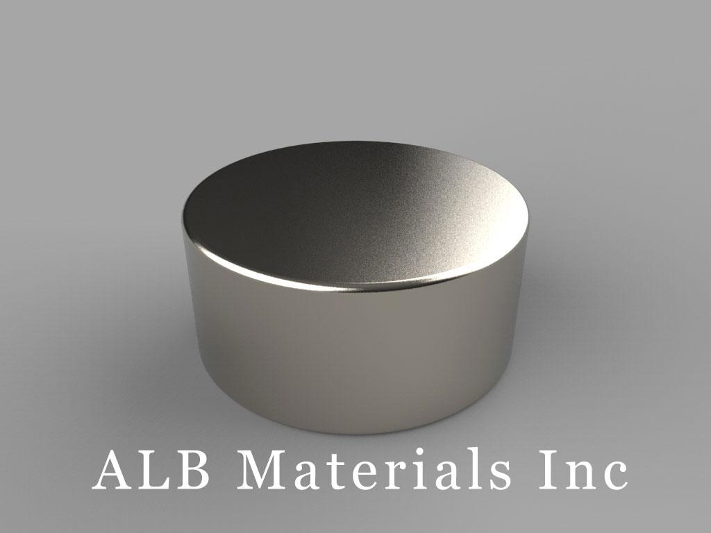 DF7 Neodymium Magnets, 15/16 inch dia. x 7/16 inch thick