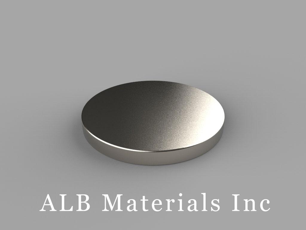 DFH1 Neodymium Magnets, 15/16 inch dia. x 1/10 inch thick