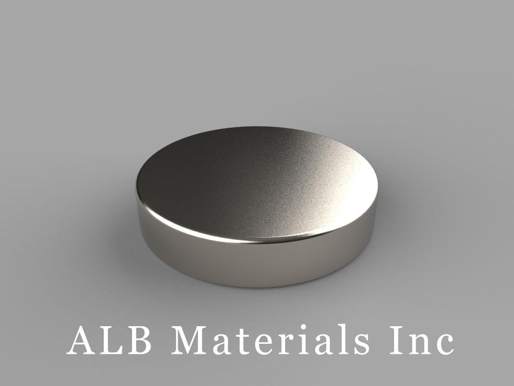 DFH2 Neodymium Magnets, 15/16 inch dia. x 2/10 inch thick