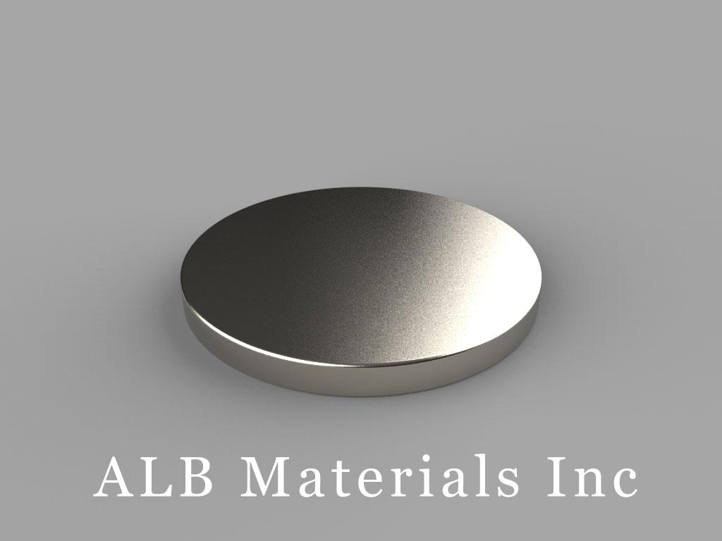 DX003 Neodymium Magnets, 1 inch dia. x 3/32 inch thick