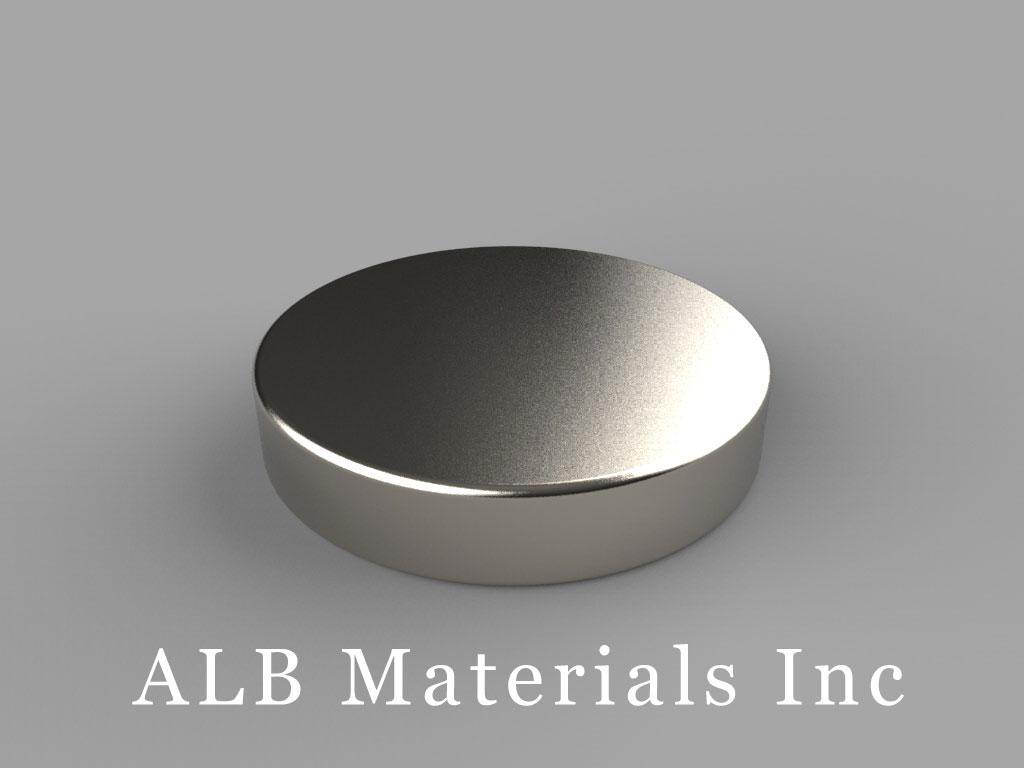 DX0H2 Neodymium Magnets, 1 inch dia. x 2/10 inch thick