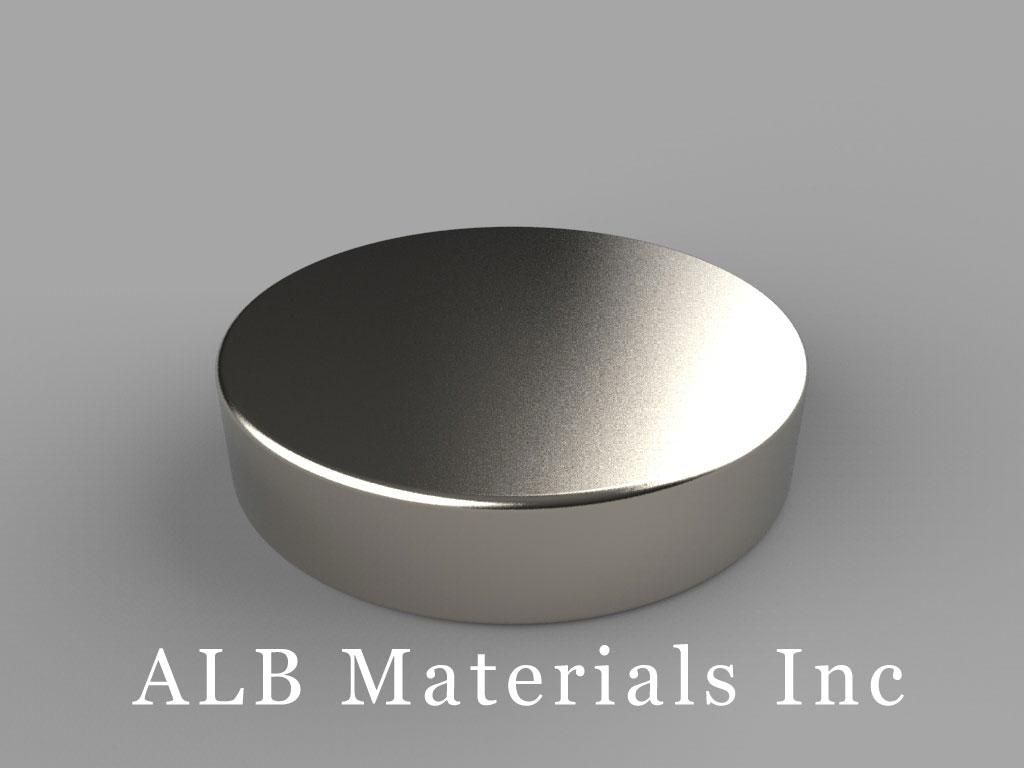 DX24 Neodymium Magnets, 1 1/8 inch dia. x 1/4 inch thick