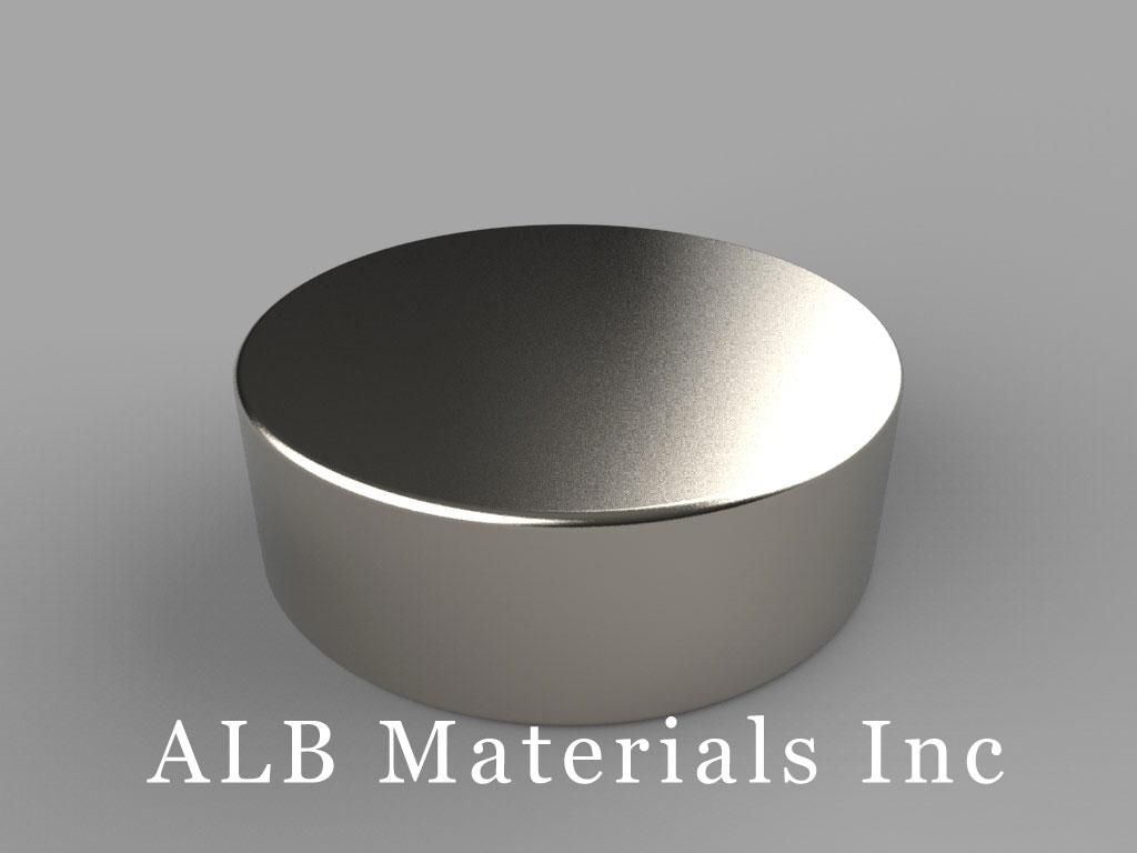DX26 Neodymium Magnets, 1 1/8 inch dia. x 3/8 inch thick