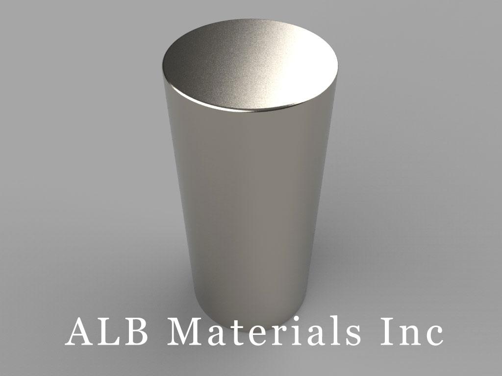 DX2Y8 Neodymium Magnets, 1 1/8 inch dia. x 2 1/2 inch thick