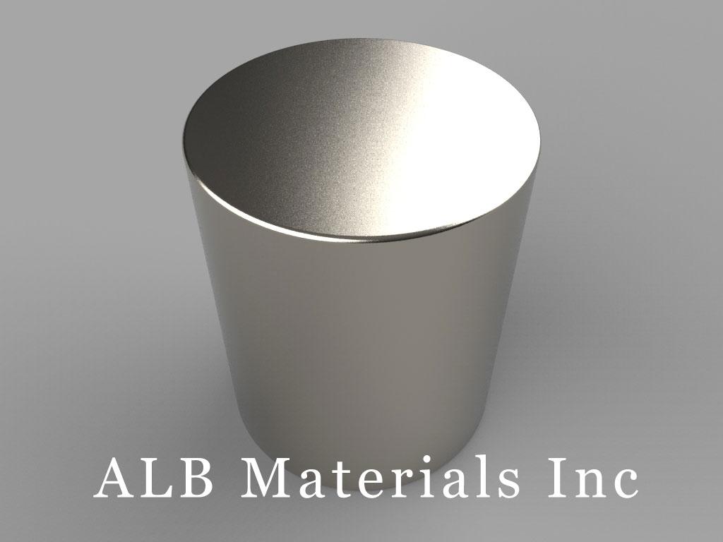 DX4X8 Neodymium Magnets, 1 1/4 inch dia. x 1 1/2 inch thick