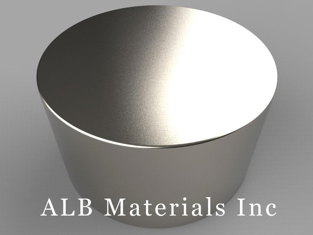 DY0X2 Neodymium Magnets, 2 inch dia. x 1 1/8 inch thick
