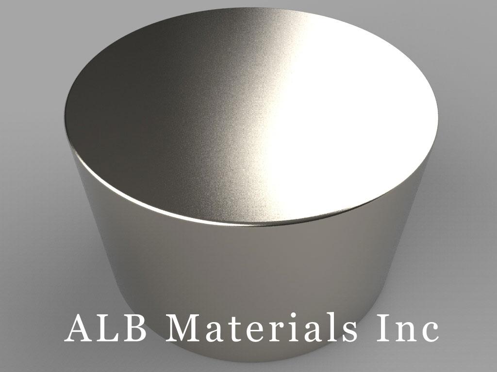 DY0X4 Neodymium Magnets, 2 inch dia. x 1 1/4 inch thick