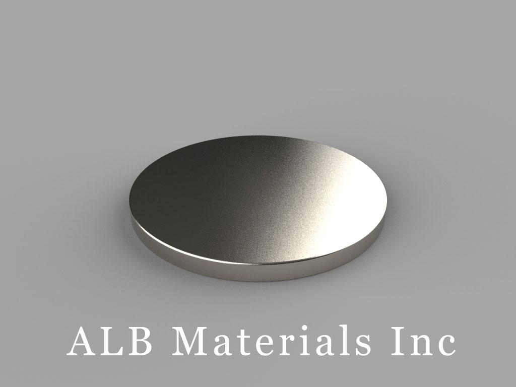 "DY83-N30SH Neodymium Disc Magnets, 2 1/2"" dia. x 3/16"" thick, Pull force(lbs): 30.77, Max Temp 150°C"