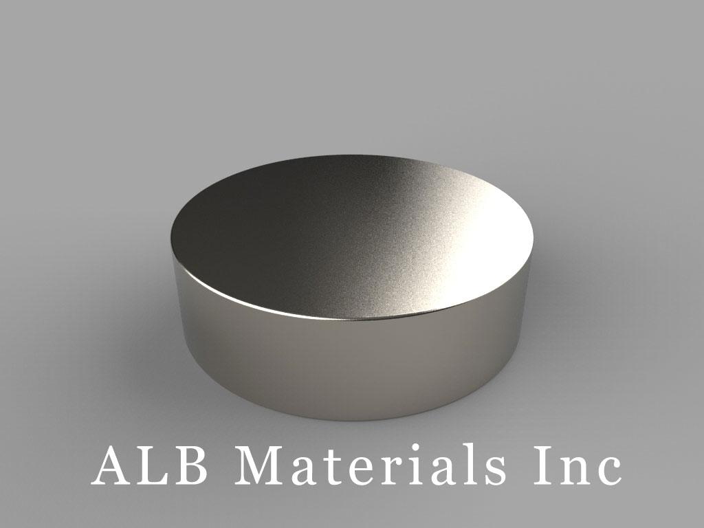 DY8C Neodymium Magnets, 2 1/2 inch dia. x 3/4 inch thick