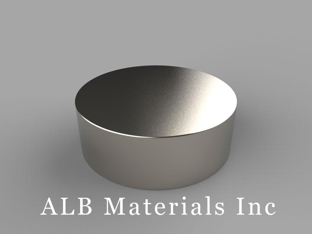 "DY8E Neodymium Magnets, 2 1/2"" dia. x 7/8"" thick"