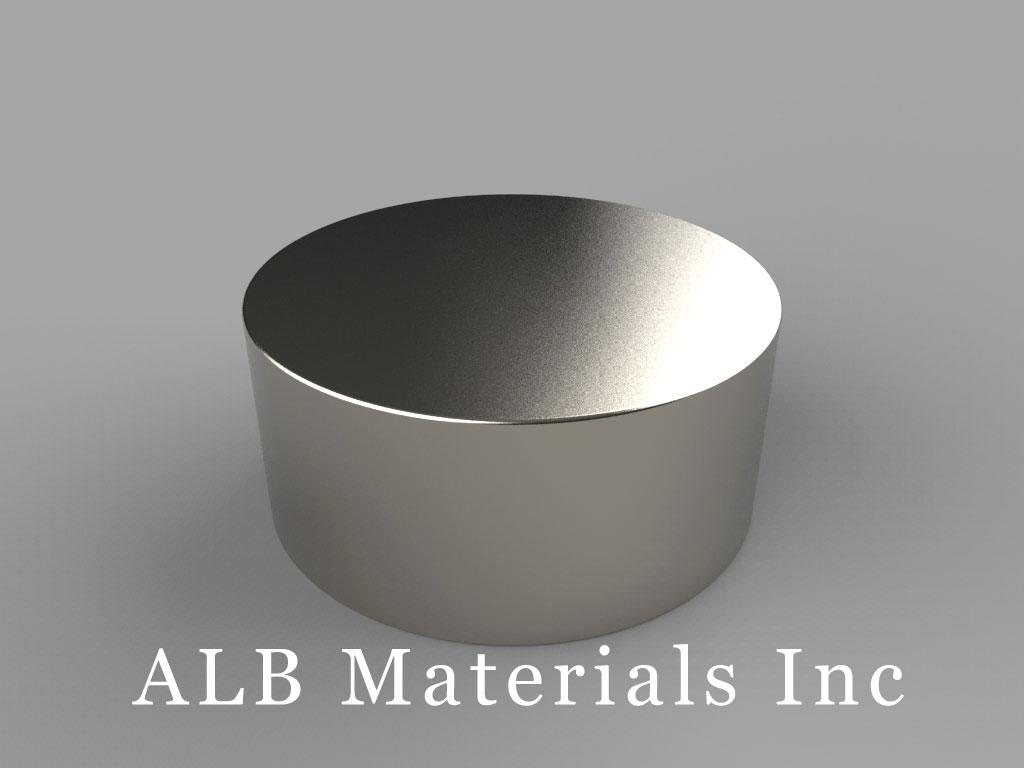 DY8X2 Neodymium Magnets, 2 1/2 inch dia. x 1 1/8 inch thick
