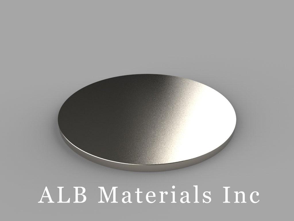 DZ02 Neodymium Magnets, 3 inch dia. x 1/8 inch thick