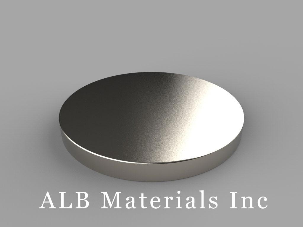 DZ05 Neodymium Magnets, 3 inch dia. x 5/16 inch thick