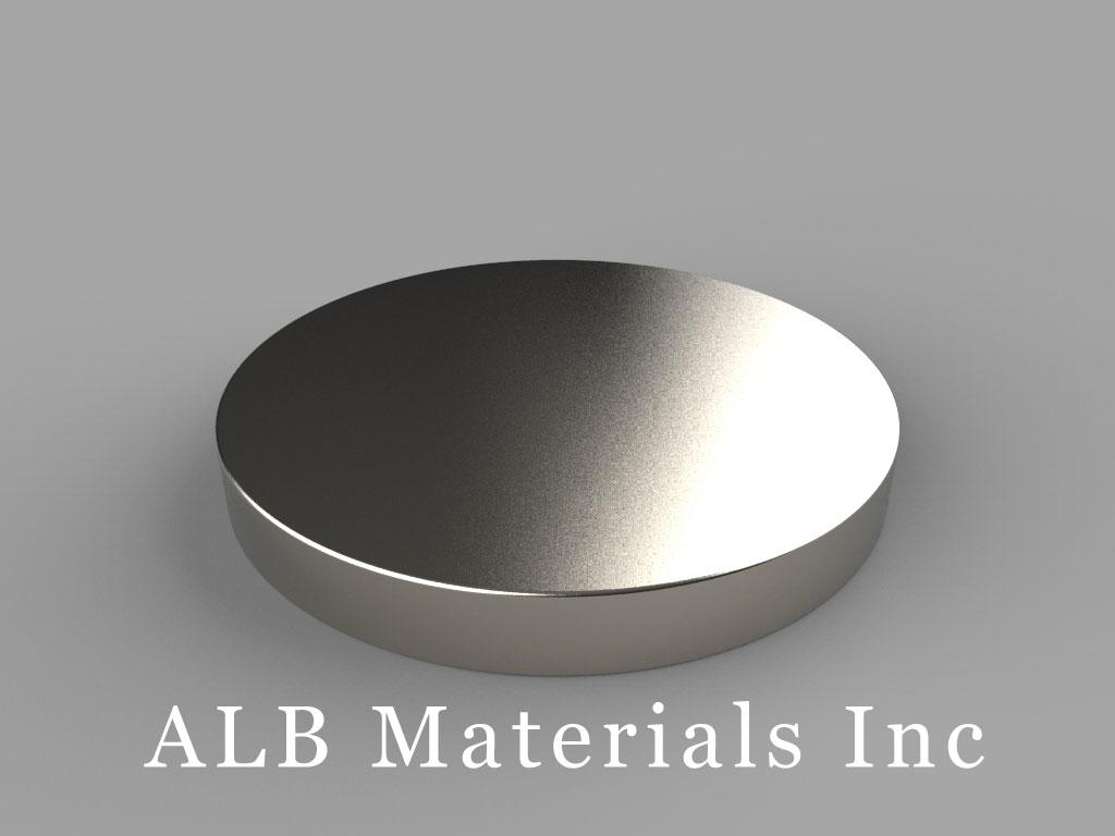 DZ06 Neodymium Magnets, 3 inch dia. x 3/8 inch thick