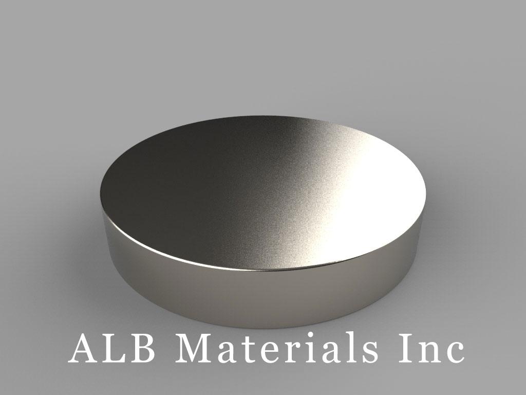 DZ09 Neodymium Magnets, 3 inch dia. x 9/16 inch thick