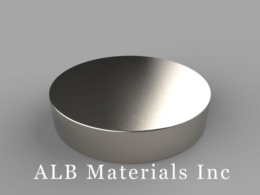 DZ0A Neodymium Magnets, 3 inch dia. x 5/8 inch thick