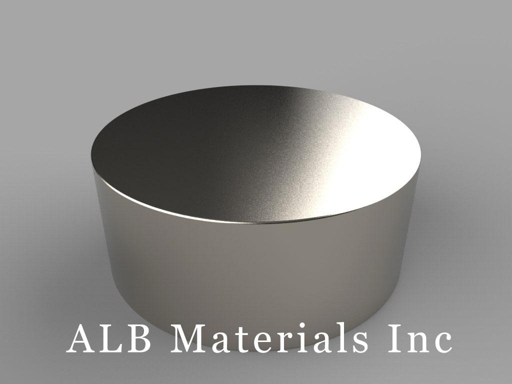 DZ0X4 Neodymium Magnets, 3 inch dia. x 1 1/4 inch thick