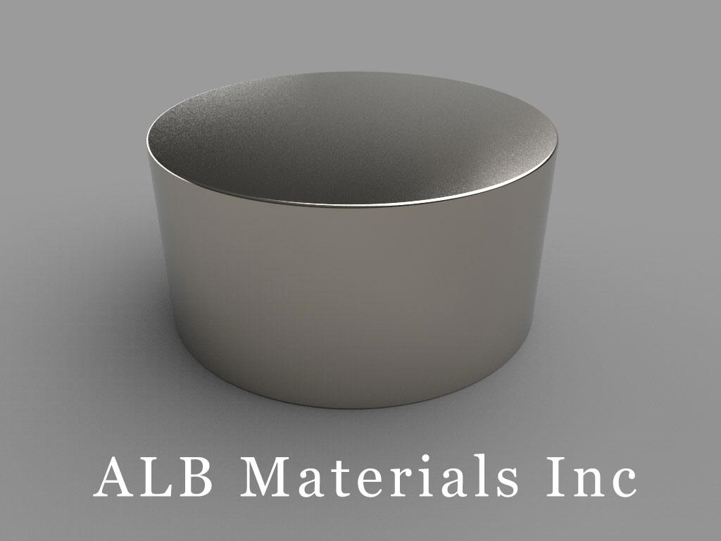 ALB-DN0247 Neodymium Disc Magnets (N52, 3 X 1 1/2 In.)