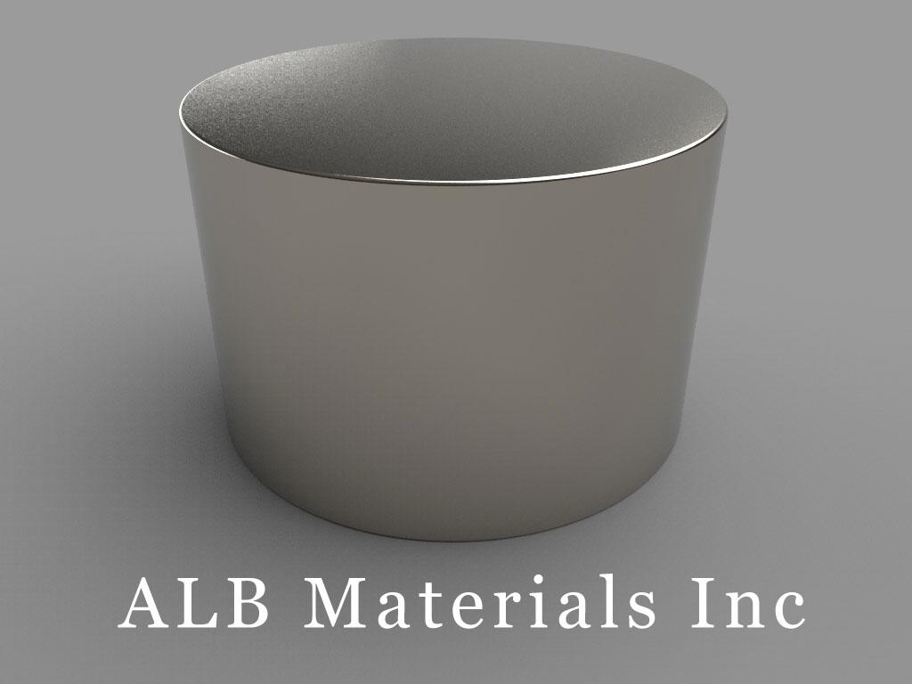 ALB-DN0248 Neodymium Disc Magnets (N42, 3 X 2 In.)