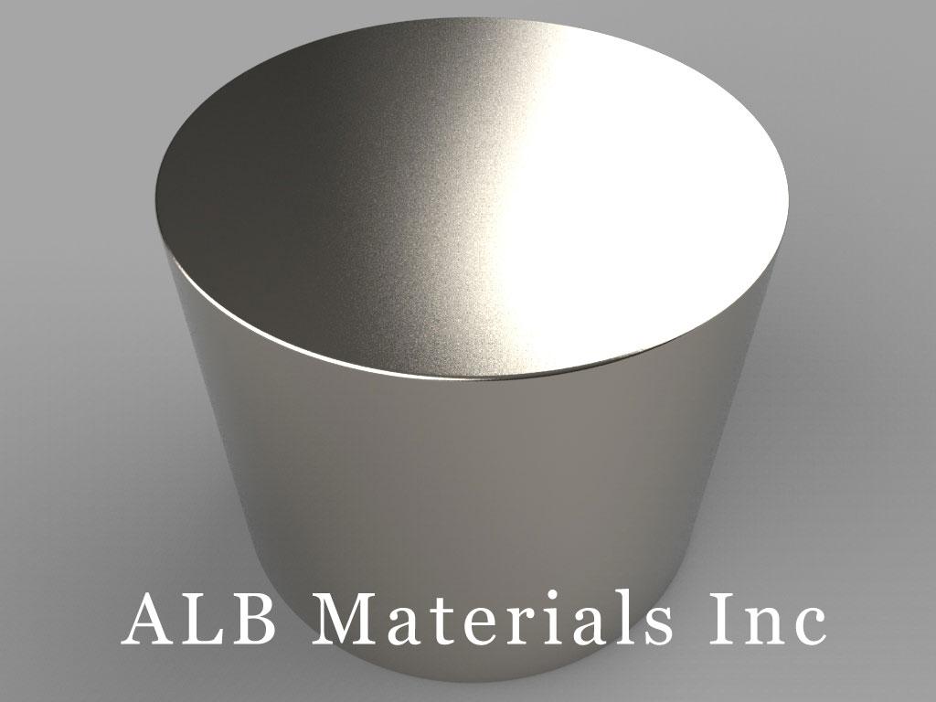 DZ0Y8 Neodymium Magnets, 3 inch dia. x 2 1/2 inch thick