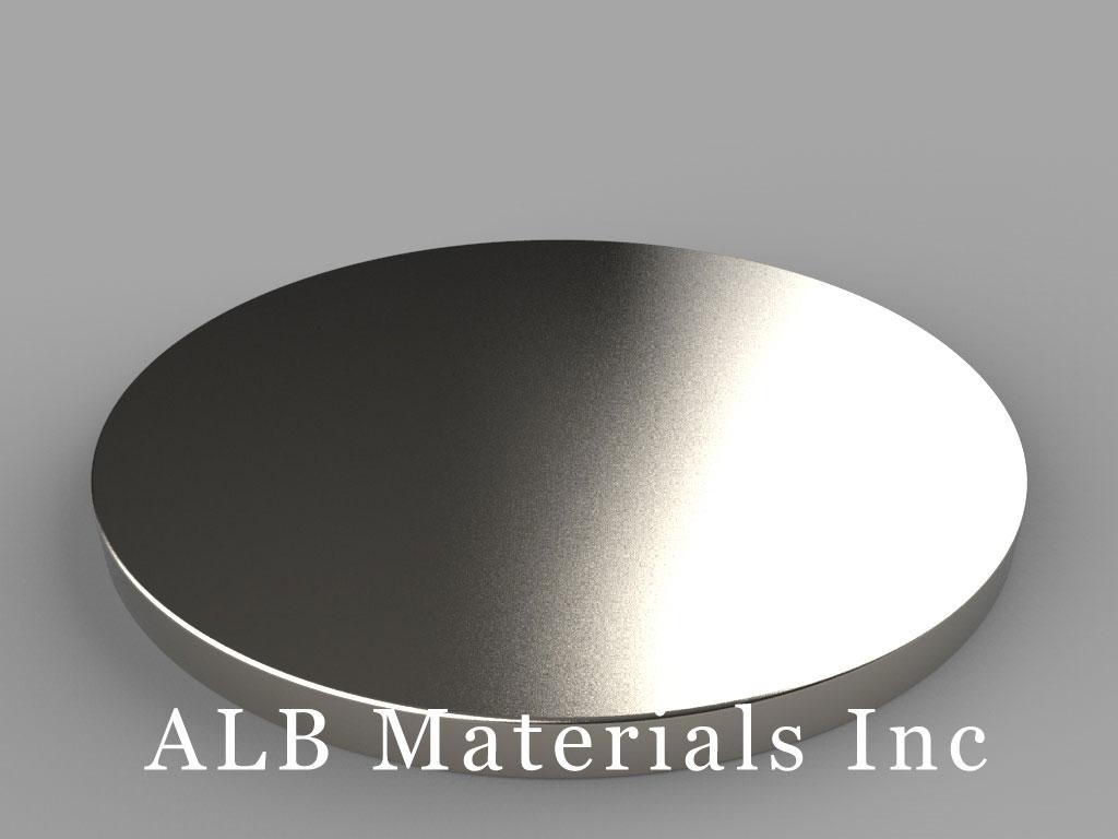 DZX04 Neodymium Magnets, 4 inch dia. x 1/4 inch thick