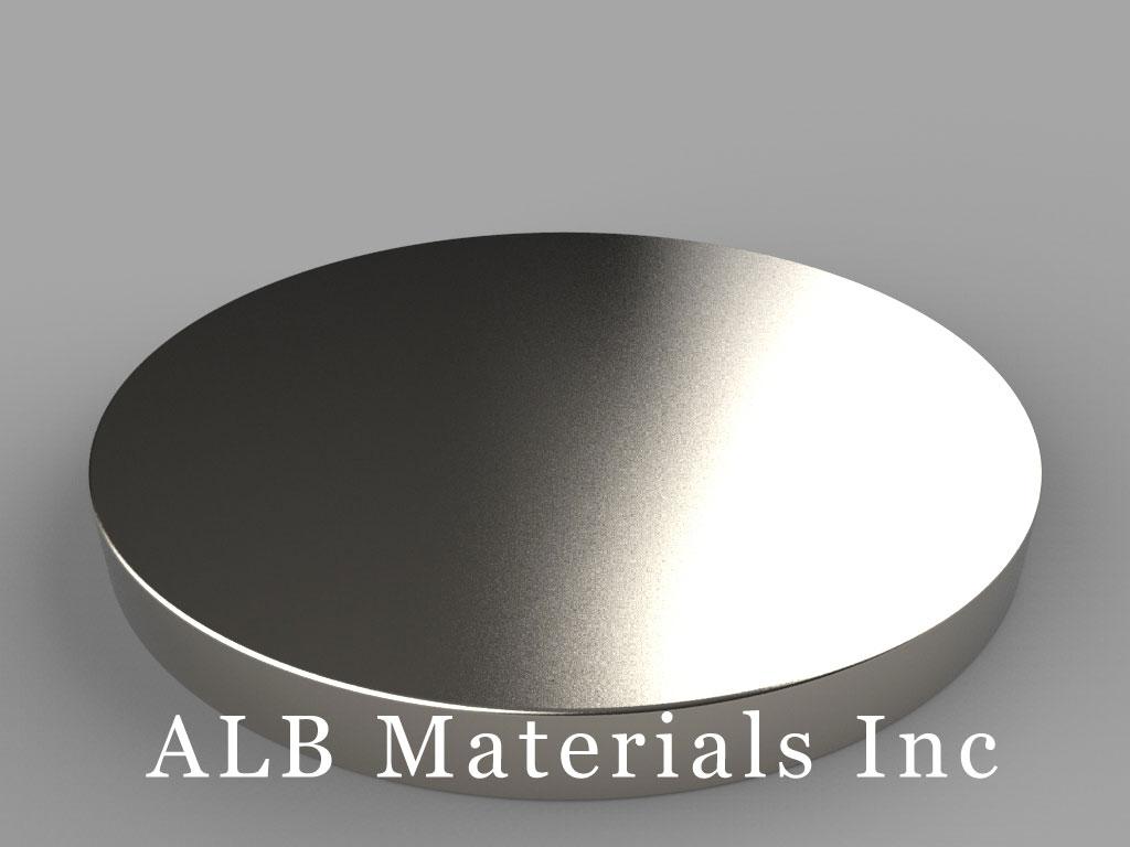 DZX06 Neodymium Magnets, 4 inch dia. x 3/8 inch thick