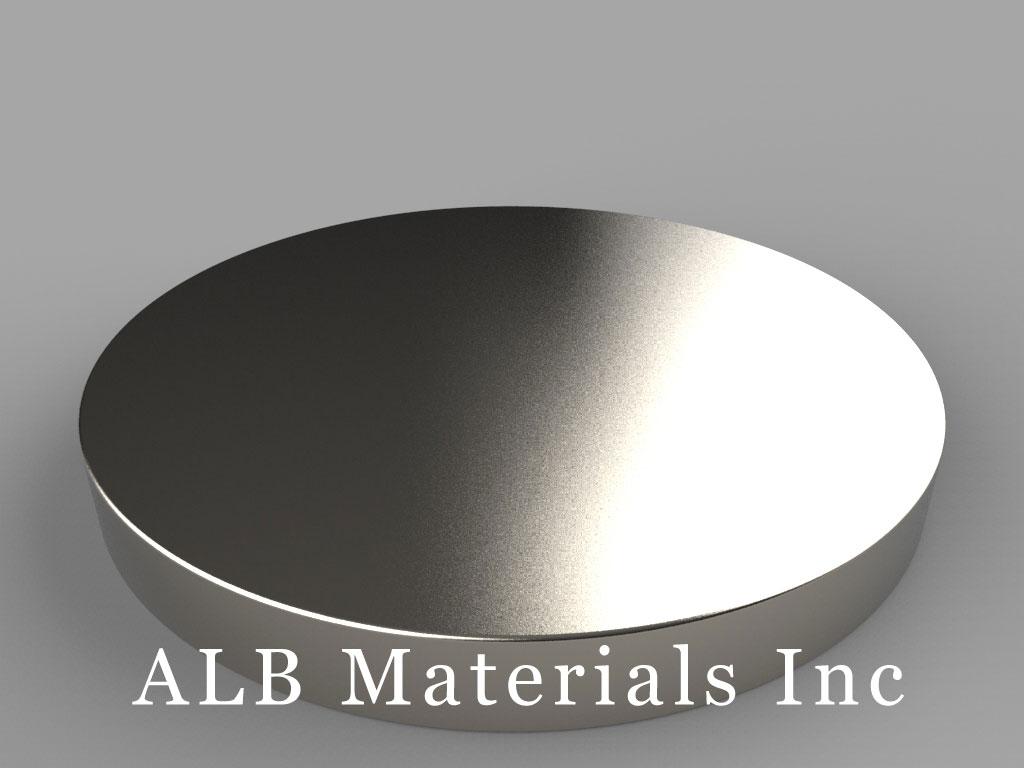 DZX07 Neodymium Magnets, 4 inch dia. x 7/16 inch thick