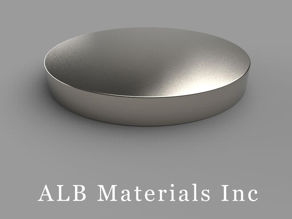 DZ0X8-N52 Neodymium Magnets, 4 inch dia. x 1/2 inch thick