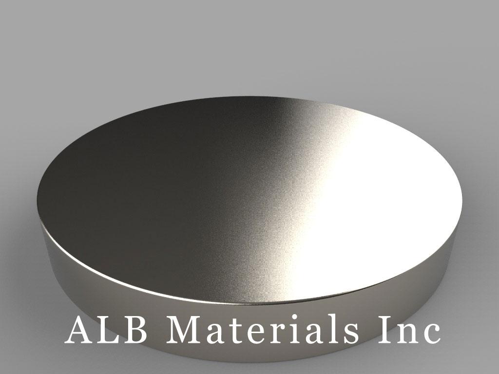 DZX09 Neodymium Magnets, 4 inch dia. x 9/16 inch thick