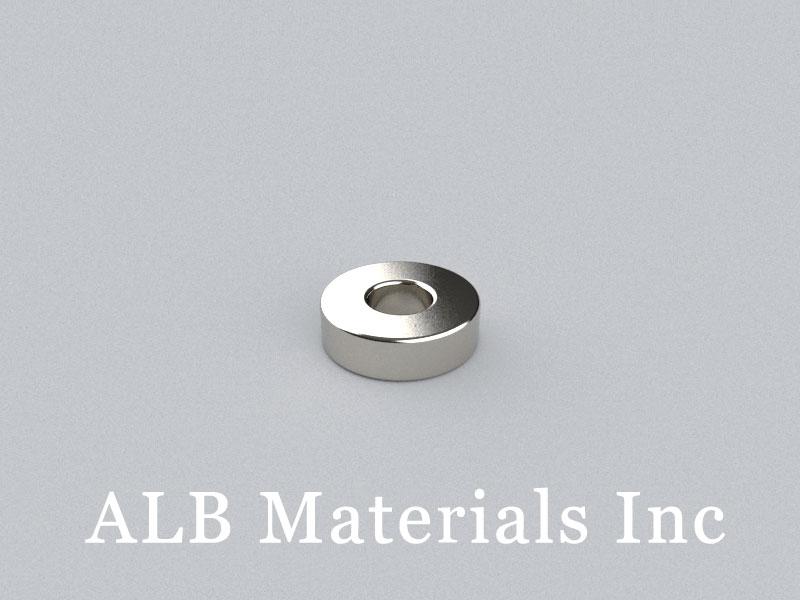 R-OD10H3ID4-N42 Neodymium Magnet, OD10xID4x3mm Ring Magnet
