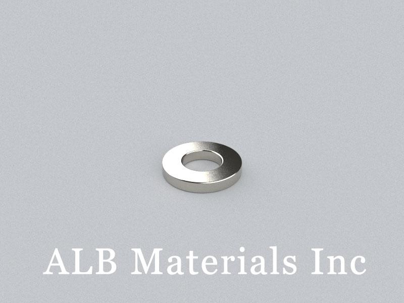 R-OD10H1.5ID5-N42 Neodymium Magnet, OD10xID5x1.5mm Ring Magnet