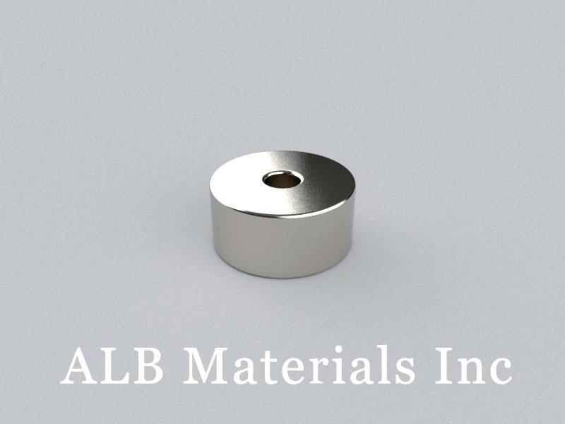 R-OD12.5H6ID3-N38(23012 Nth) Neodymium Magnet, OD12.5xID3x6mm Ring Magnet