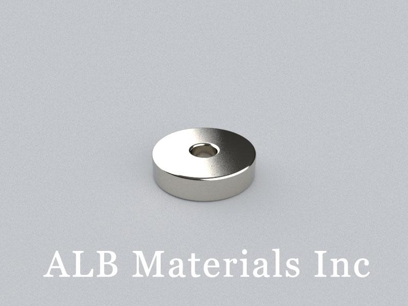 R-OD12.7H3.175ID3.175-N45 Neodymium Magnet, OD12.7xID3.175x3.175mm Ring Magnet